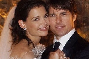 Tom Cruise (right) and Katie Holmes were wed just after sunset on November 18, 2006 at Odescalchi Castle