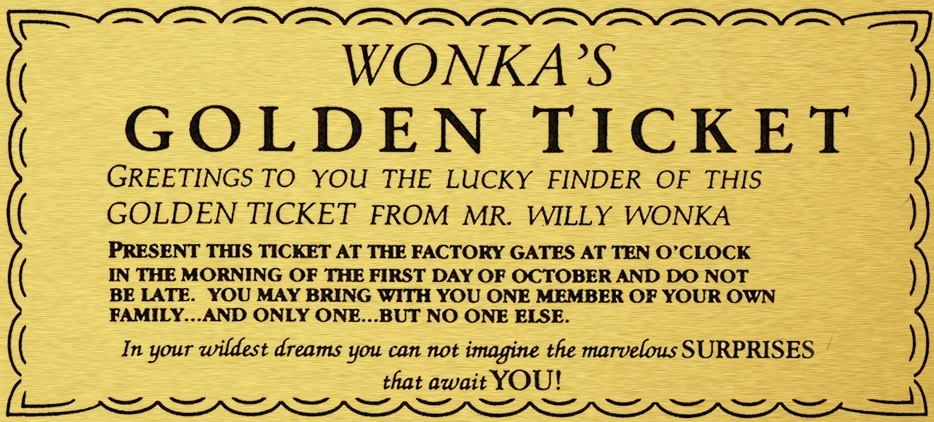 Find The Willie Wonka Ticket For Personal Happiness in Your Life