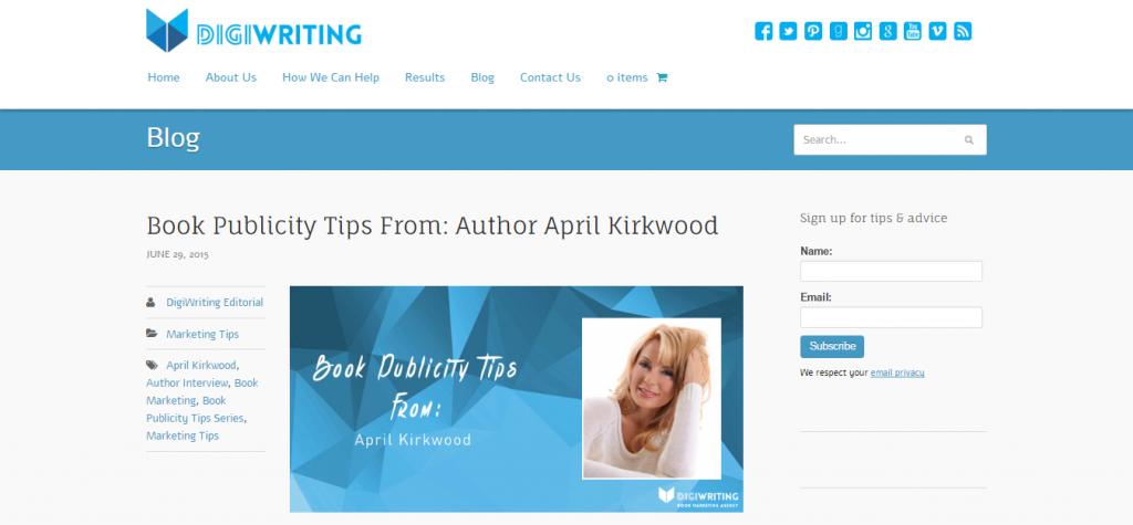 Book Marketing By April Kirkwood