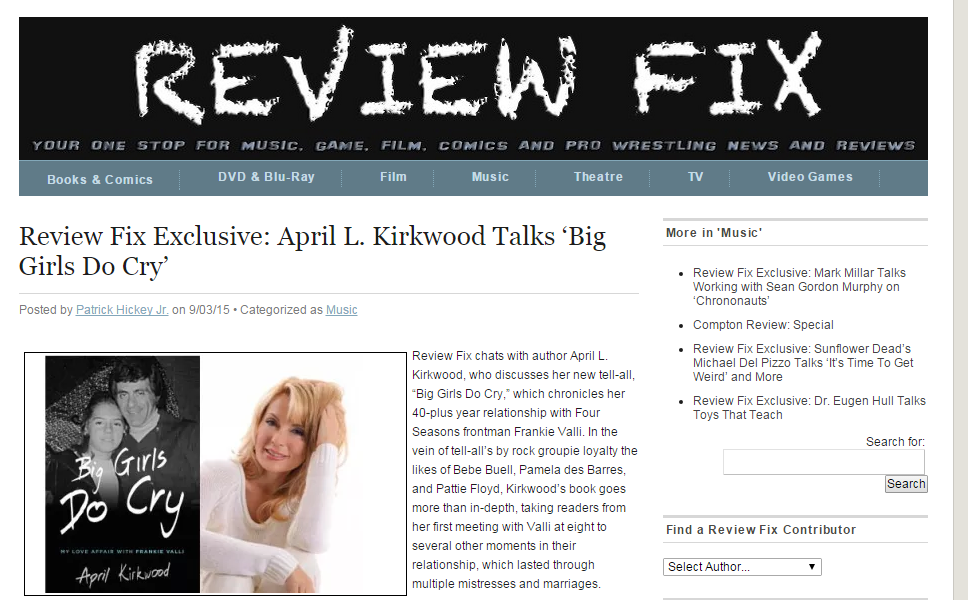 April Kirkwood Does Exclusive Interview on ReviewFix Opening Up About Her Recent Book