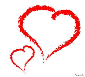 Love - red hearts